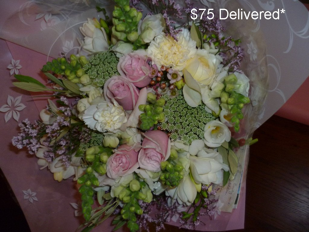 $75 Gift Bouquet delivered within 40km radius of Eumundi. Additional delivery options available